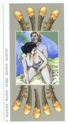 DECAMERON TAROT галерея таро и значения  - Страница 2 Wands09