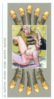 DECAMERON TAROT галерея таро и значения  - Страница 2 Wands10