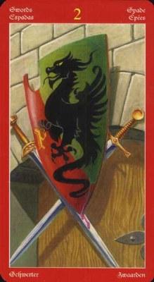 Dragons Tarot , галерея таро и значения - Страница 3 Swords02