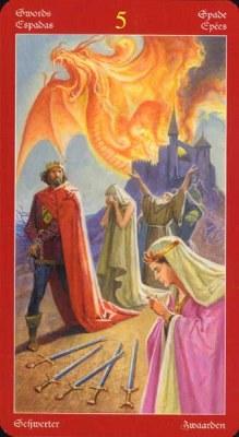 Dragons Tarot , галерея таро и значения - Страница 3 Swords05