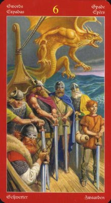 Dragons Tarot , галерея таро и значения - Страница 3 Swords06