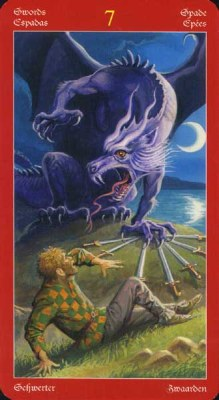 Dragons Tarot , галерея таро и значения - Страница 3 Swords07
