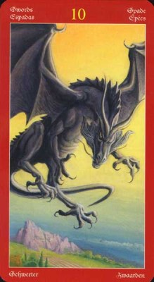 Dragons Tarot , галерея таро и значения - Страница 3 Swords10