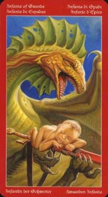 Dragons Tarot , галерея таро и значения - Страница 3 Swords11
