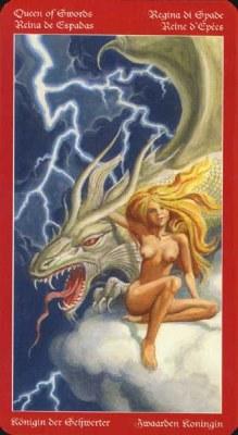 Dragons Tarot , галерея таро и значения - Страница 3 Swords13