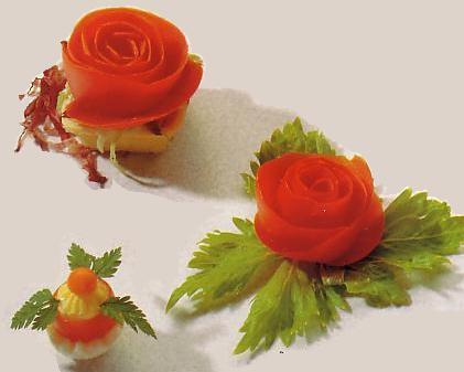 Украшение блюд, или красота в кулинарии... Rose