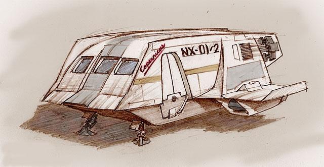 2-es űrkomp NX-01_shuttle