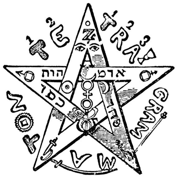 L'Etoile à cinq branches (pentagramme) Pentagram-Eliphas-Levi
