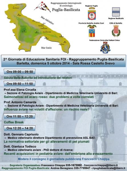 2^ Giornata di Educazione Sanitaria FOI - medicina aviare Convegno-foi-barletta-2014