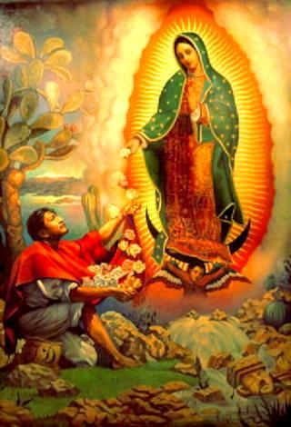 Les femmes catholiques sont-elles obligées de porter un voile partout? - Page 5 Notre-dame-de-Guadalupe-et-juan-diego