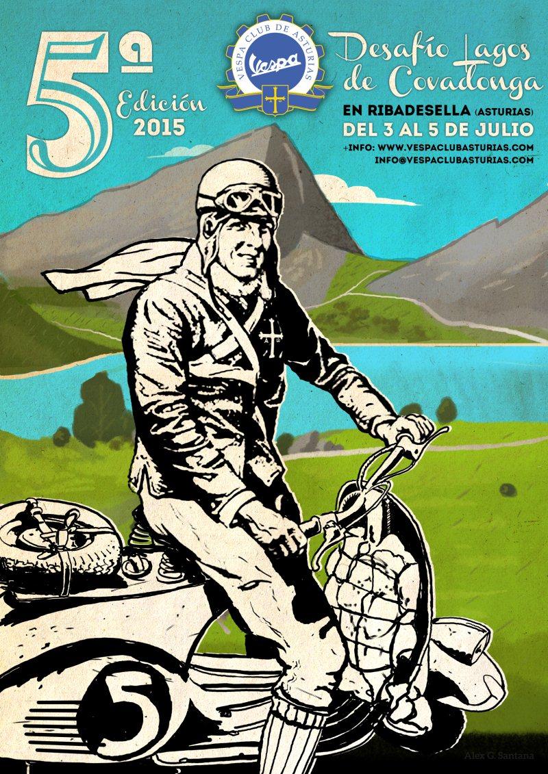 V Desafío Vespa Club de Asturias Lagos Covadonga (3/5 Julio) Cartel%20Lagos2015.Verde%20resize