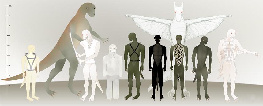 Престон Джеймс  - Предстоящий переход к космическому фашизму (Части I-III) Alien-reptilian_lineup