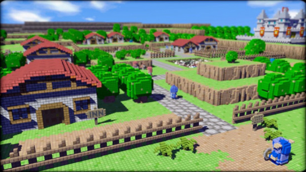 3D Dot Game Heroes 3d-dot-game-heroes-town-screenshot