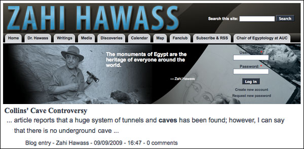 Caves discovered under the pyramids raise excitement, questions. Hawass.deny