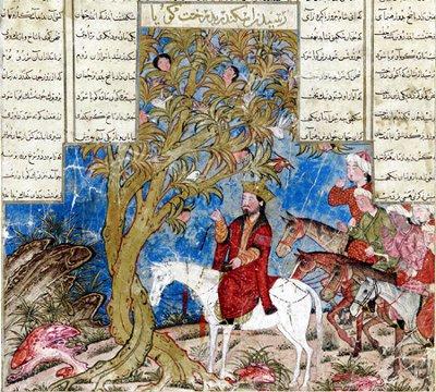 Rencontres entre l'Orient et l'Occident Alexandre-conversant-avec-l-arbre-waq-waq-shanameh-le-livre-des-rois