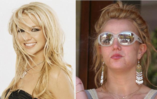 بشعات بدون مكياج Britney-spears