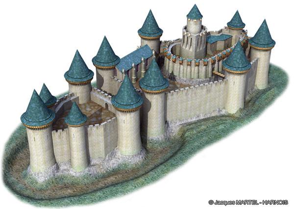 [Projet] Château fort avec sa ville médiévale Gaillard-1