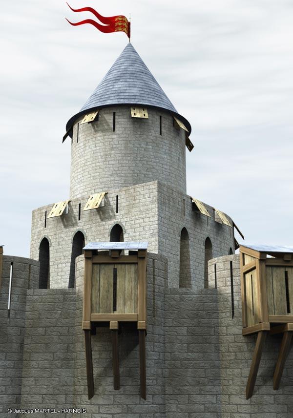 [Projet] Château fort avec sa ville médiévale Gaillard-10