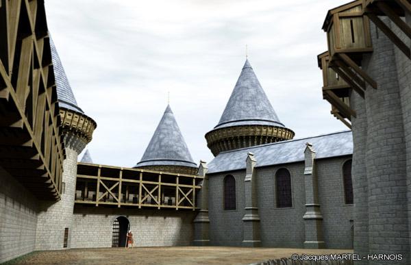 [Projet] Château fort avec sa ville médiévale Gaillard-11