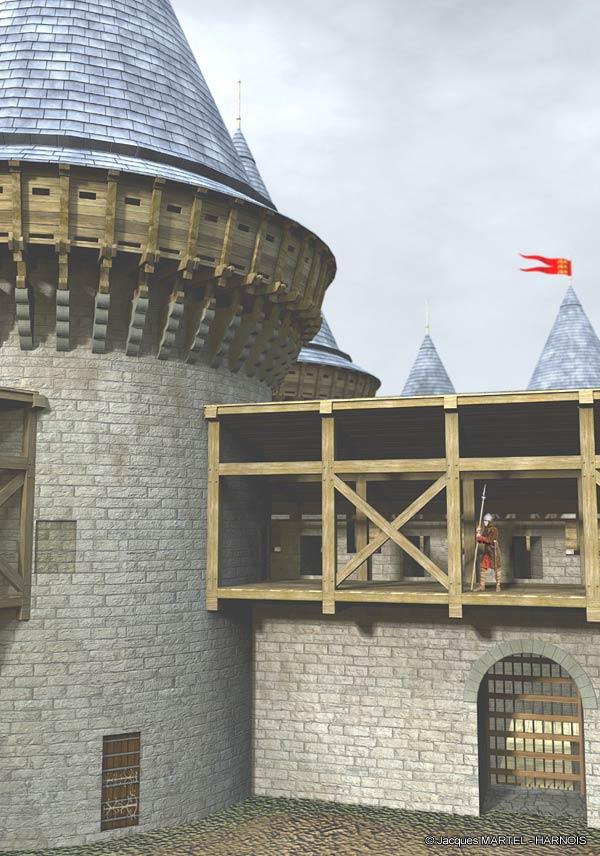 [Projet] Château fort avec sa ville médiévale Gaillard-12