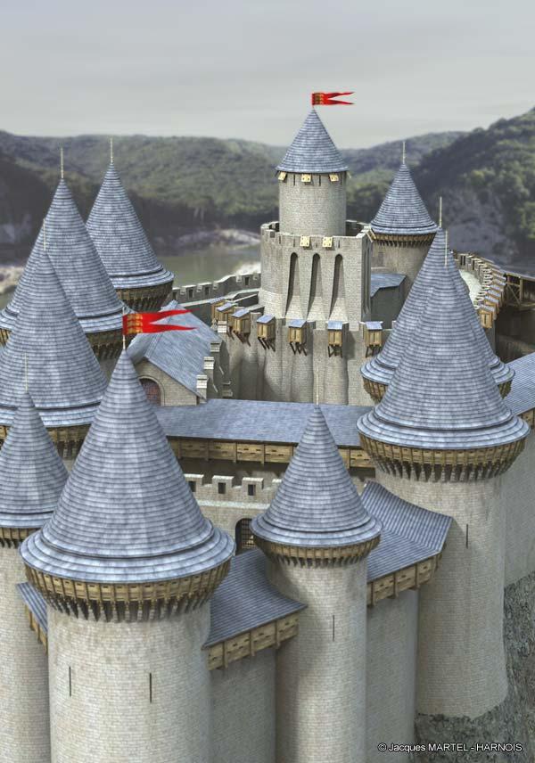 [Projet] Château fort avec sa ville médiévale Gaillard-13