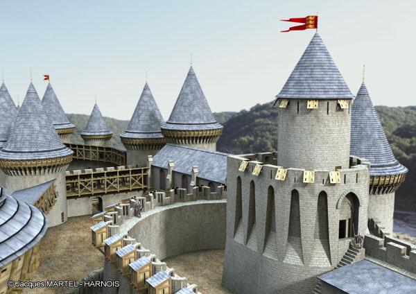 [Projet] Château fort avec sa ville médiévale Gaillard-14