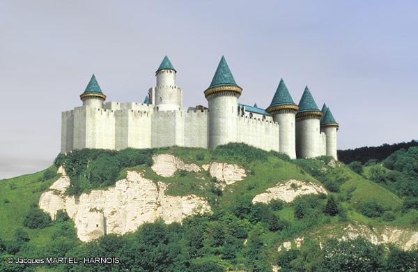 [Projet] Château fort avec sa ville médiévale Gaillard-2