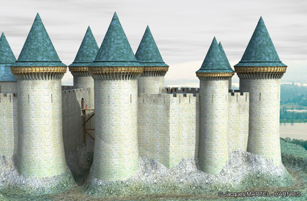 [Projet] Château fort avec sa ville médiévale Gaillard-3
