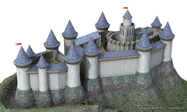 [Projet] Château fort avec sa ville médiévale Gaillard-4