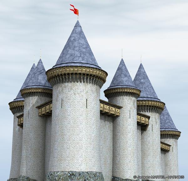 [Projet] Château fort avec sa ville médiévale Gaillard-5