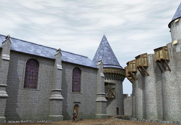 [Projet] Château fort avec sa ville médiévale Gaillard-6