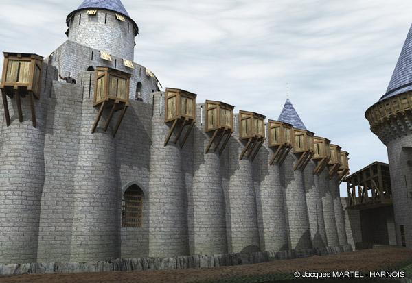 [Projet] Château fort avec sa ville médiévale Gaillard-7