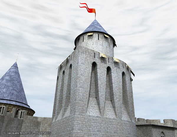 [Projet] Château fort avec sa ville médiévale Gaillard-8