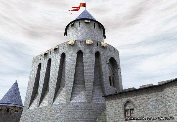 [Projet] Château fort avec sa ville médiévale Gaillard-9