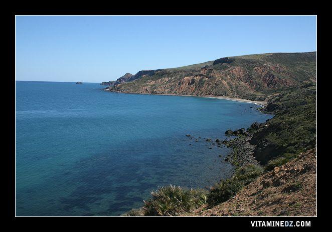 شواطئ و حمامات عين تموشنت  507-la-plage-de-malous-a-droite-de-ouardania