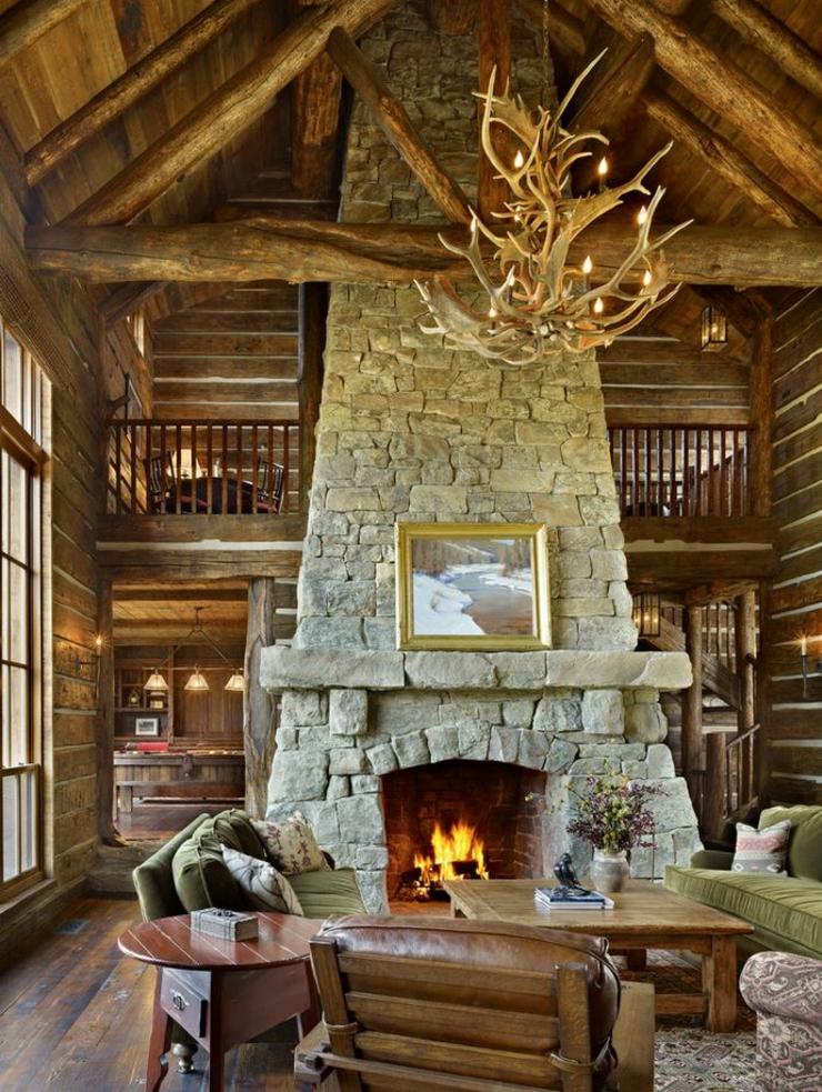 Deco intérieur bois Interieur-rustique-maison-montagne