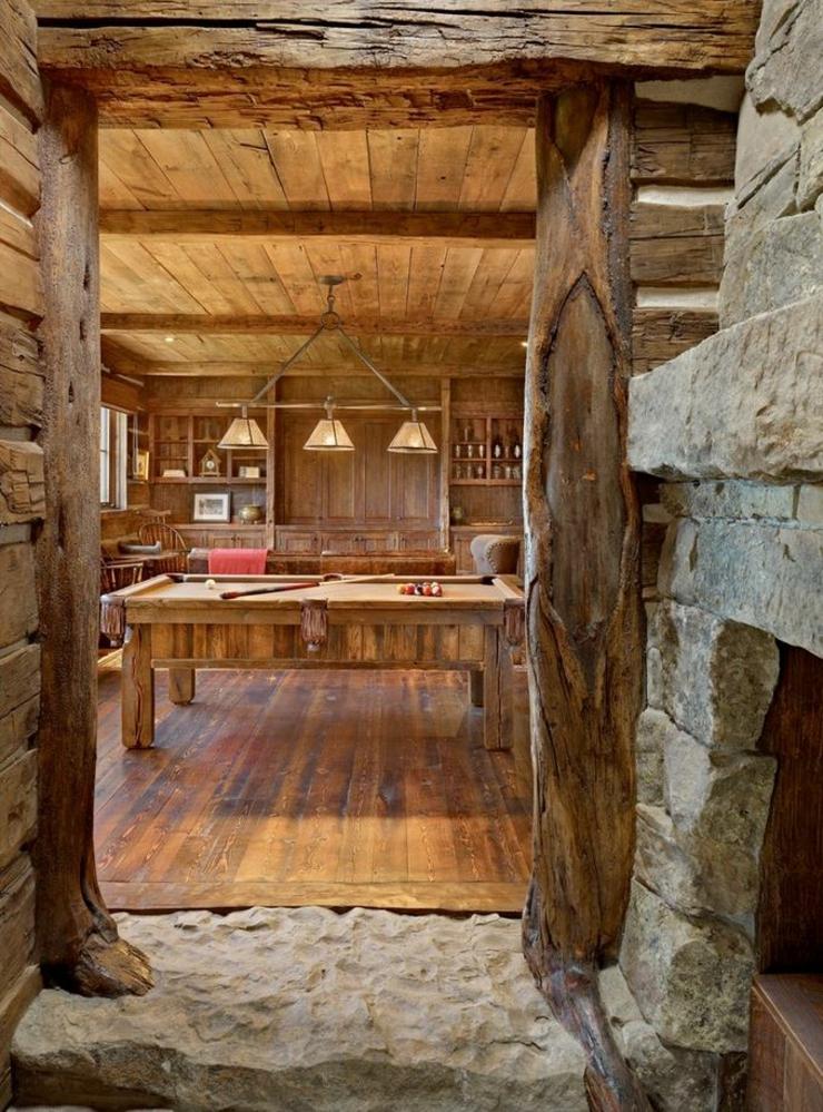 Deco intérieur bois Maison-montagne-interieur-rustique