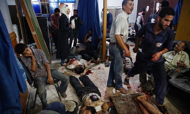 ايوان وسيبما فى سوريا اندهاش الجزء الثالث  Bombardamento-del-mercato-di-Douma
