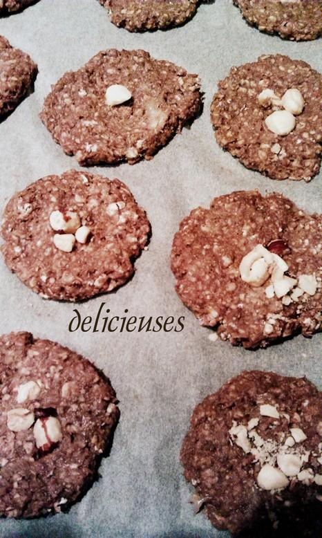 Cookies με φυστικοβούτυρο, μπανάνα και φαγόπυρο χωρίς ψήσιμο 0461
