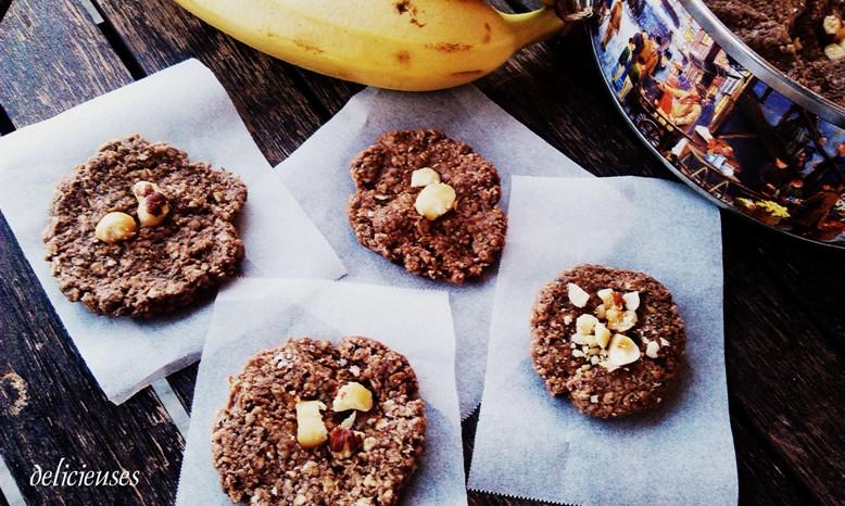 Cookies με φυστικοβούτυρο, μπανάνα και φαγόπυρο χωρίς ψήσιμο 0515