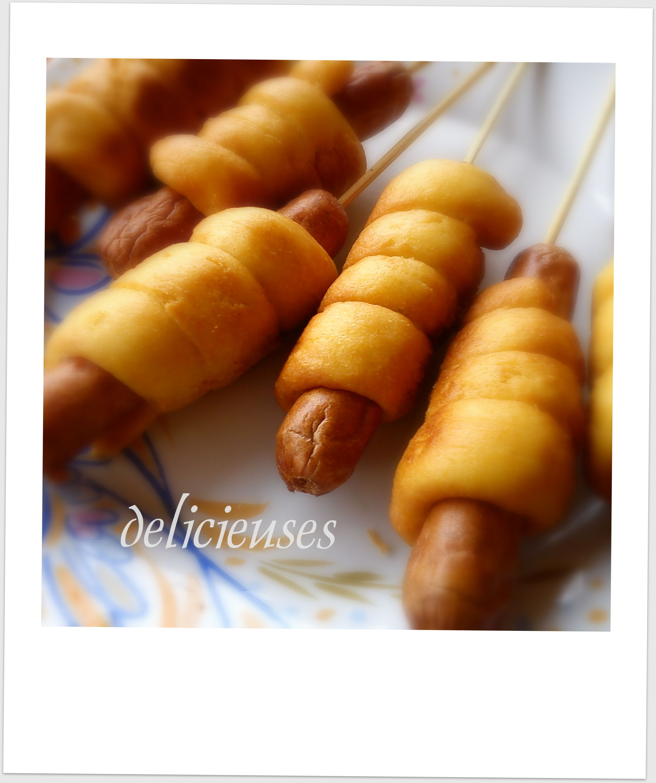Corn dogs φούρνου με αλεύρι ολικής άλεσης 132