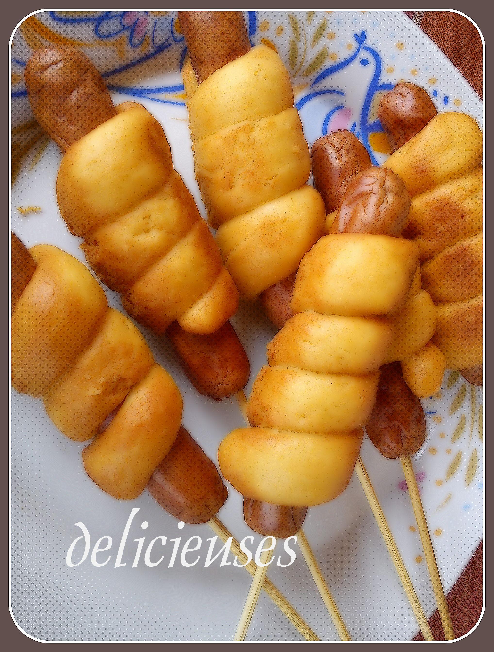 Corn dogs φούρνου με αλεύρι ολικής άλεσης 137