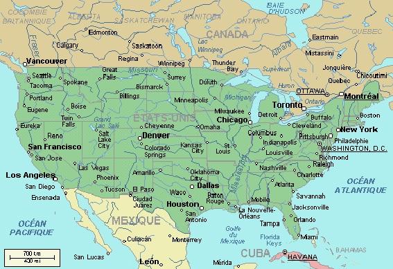 PHILADELPHIE (USA) ET LE PAYS DES AMICHS Carte-usa