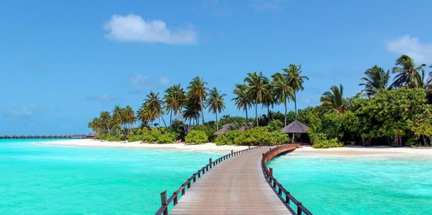 Les plus belles plages du monde Plage-paradisiaque-maldives-848x422