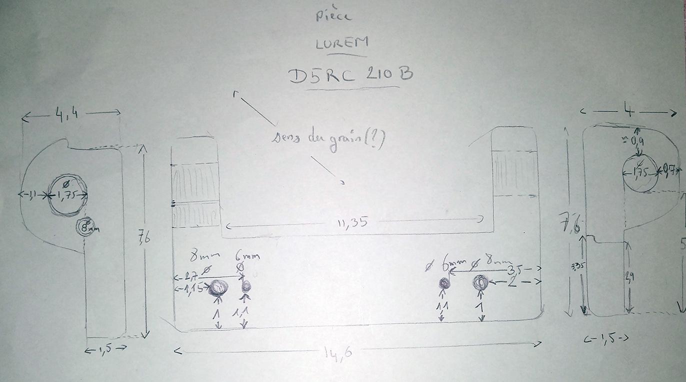 Combiné Lurem C210B : réparation/fabrication d'une charnière de table de dégauchisseuse (support de chape) IMG_20160111_235149