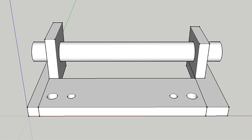 Combiné Lurem C210B : réparation/fabrication d'une charnière de table de dégauchisseuse (support de chape) Charniere-v2.0