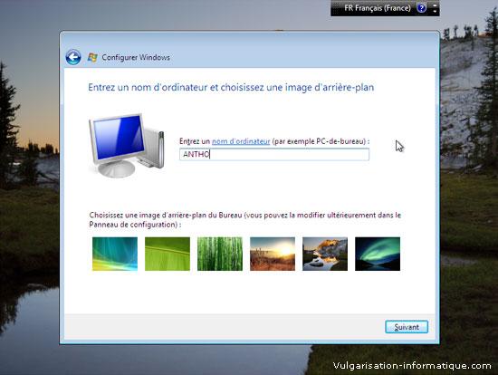 Installer Windows Vista Etape_14
