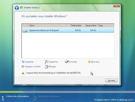 Installer Windows Vista Etape_7