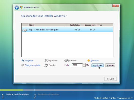 Installer Windows Vista Etape_8