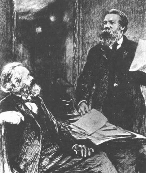 Un dia como hoy... 14 de marzo de 1883 Karl Marx se desvanecia en su sillon. Marx-Engels_1867_in_London_%28Schukow%29